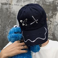 Koiyua - Safety Pin-Accent Embroidered Cap