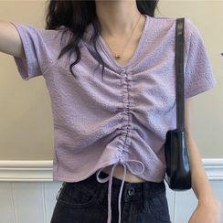 CEYX - 抽繩短袖短款上衣