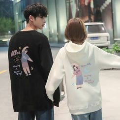 ATee Store - Couple Matching Printed Hoodie / Pullover