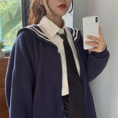 AKANYA - 水手領拉鏈外套