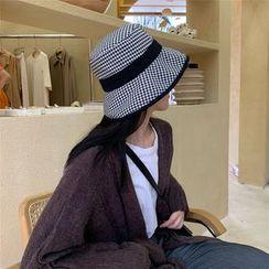 TESS - Houndstooth Bucket Hat