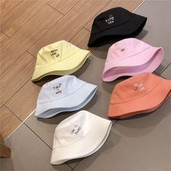 Hufu - Cat Embroidered Bucket Hat