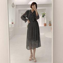 Chlo.D.Manon - Plaid Chiffon Long Dress