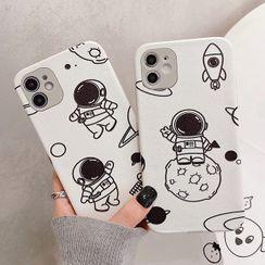 Mobby - Astronaut Print Phone Case - iPhone 12 Pro Max / 12 Pro / 12 / 12 mini / 11 Pro Max / 11 Pro / 11 / SE / XS Max / XS / XR / X / SE 2 / 8 / 8 Plus / 7 / 7 Plus