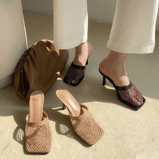KICKOFF - Mesh High-heel Mules