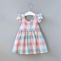 Cuckoo - Kids Plaid Sleeveless Dress