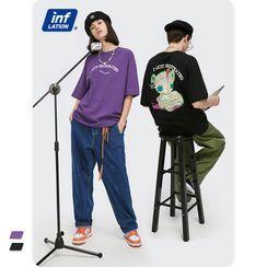 Newin(ニューイン) - Unisex Short-Sleeve Printed Loose T-Shirt