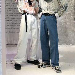 Porstina - Loose-Fit Wide-Leg Jeans