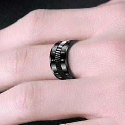 Soosina - 不鏽鋼數字可轉動戒指