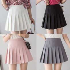 Halos - Pleated Mini Skirt