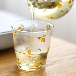 Lilac Petal - Lemon Print Glass Drinking Cup
