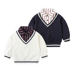 MOM Kiss - Kids Mock Two-Piece Pullover