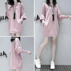 Lumierii - Mock Two-Piece Pullover Dress