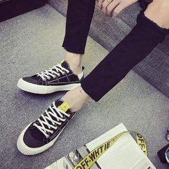 Solejoy - 飾縫線繫帶休閒鞋