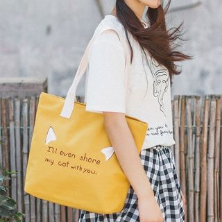 Libra - Lettering Canvas Tote Bag