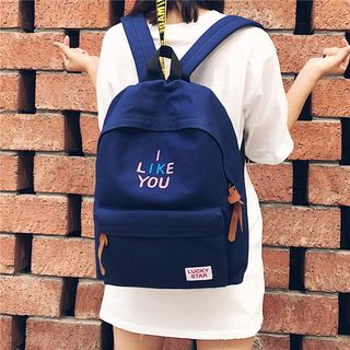 Hampa - Canvas Embroidered Backpack