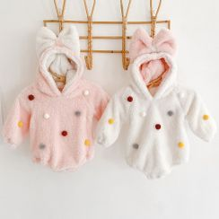 Cuckoo - Baby Fleece Hood Bodysuit