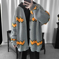 JUN.LEE(ジュンリー) - Over-Sized Printed Knitted Cardigan