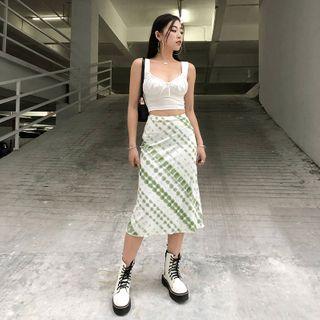 Cincine - Tie Dye Midi Skirt