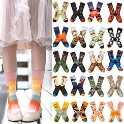 Saysmith - Printed Mid-Calf Socks (Various Design)