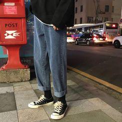 Breeson - 九分直筒牛仔裤