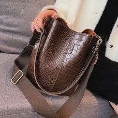 Nautilus Bags - Croc Grain Bucket Bag