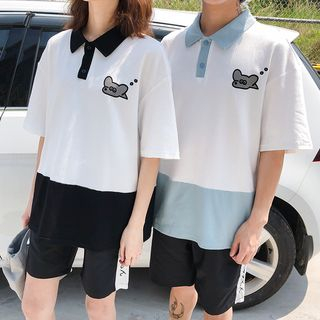Sienne - Printed Short-Sleeve Polo Shirt
