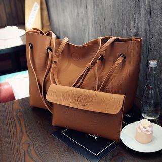 Diamante - 套裝: 仿皮手提包 + 手拿包