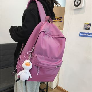 Gokk - Plain Zip Backpack