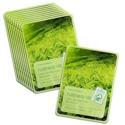 TONYMOLY - Pureness 100 Mask Sheet - Green Tea 10pcs