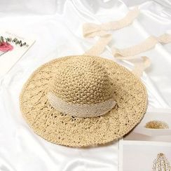 FROME - Lace Straw Sun Hat