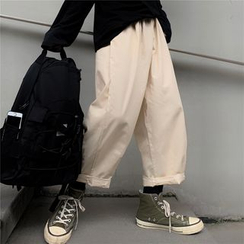 Banash - Plain Wide-Leg Pants