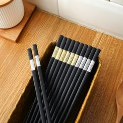 Homy Bazaar - 5-pair Set: Alloy Chopsticks