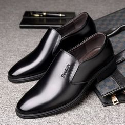 Ashiato - Genuine Leather Slip-On Dress Shoes