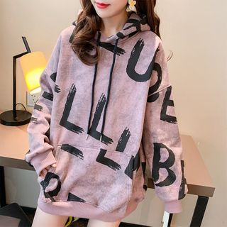 Pickxy - All Over Letter Hoodie