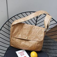 Quien - Kraft Paper Messenger Bag