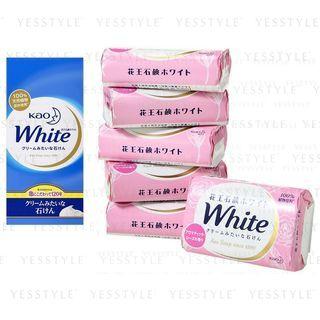 Kao - Bar Soap White 85g x 6 - 2 Types