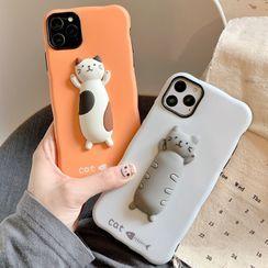 OUROBA - 3D Cat Phone Case - iPhone 11 Pro Max / 11 Pro / 11 / XS Max / XS / XR / X / 8 / 8 Plus / 7 / 7 Plus / 6s / 6s Plus