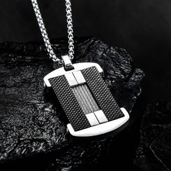 Andante - Metal Plate Necklace