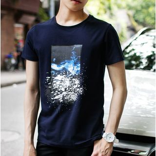 AMPO - Print Short Sleeve T-Shirt
