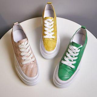佳美 - 厚底系带休閒鞋