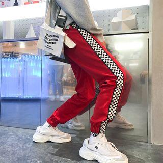 Chuoku - Couple Matching Plaid Panel Sweatpants