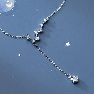 A'ROCH - 925 Sterling Silver Rhinestone Star Pendant Necklace