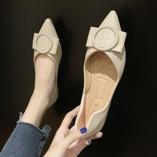 Simply Walk - Pointed Buckled Flats