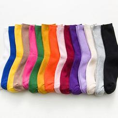 Calzino - 五對套裝: 純色短襪