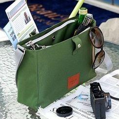 Evorest Bags - Snap Button Canvas Shoulder Bag