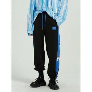 FAERIS - Two-Tone Applique Sweatpants