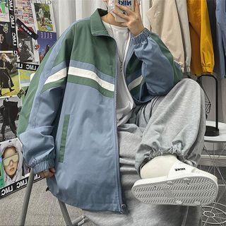 ChouxChic - Color Block Zip Jacket