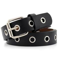 Coco Rush - Faux Leather Grommet Belt
