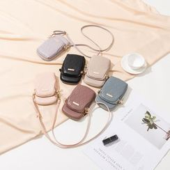 NICOLEBONNIE(ニコルボニー) - Faux Leather Mobile Phone Crossbody Bag